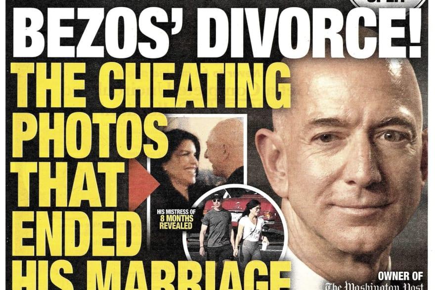 Sensationalised headline about Jeff Bezos' divorce