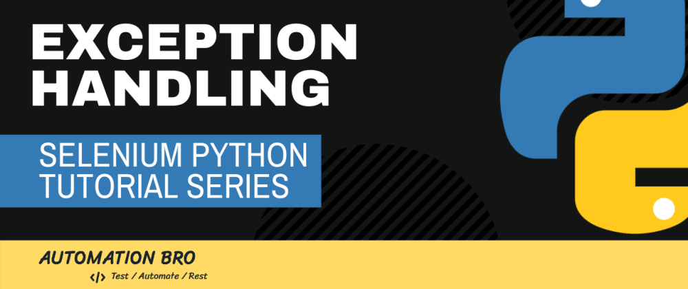 Cover image for Selenium Python Exception Handling