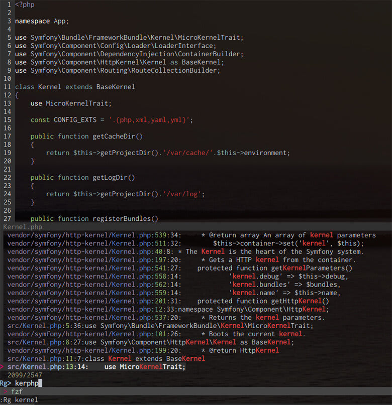 Vim search is a beast with fzf and ripgrep