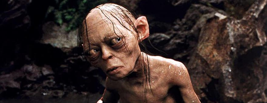 confused gollum from lord of the rings