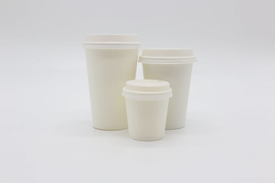 Paper cups of different sizes
