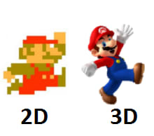 2D and 3D Mario