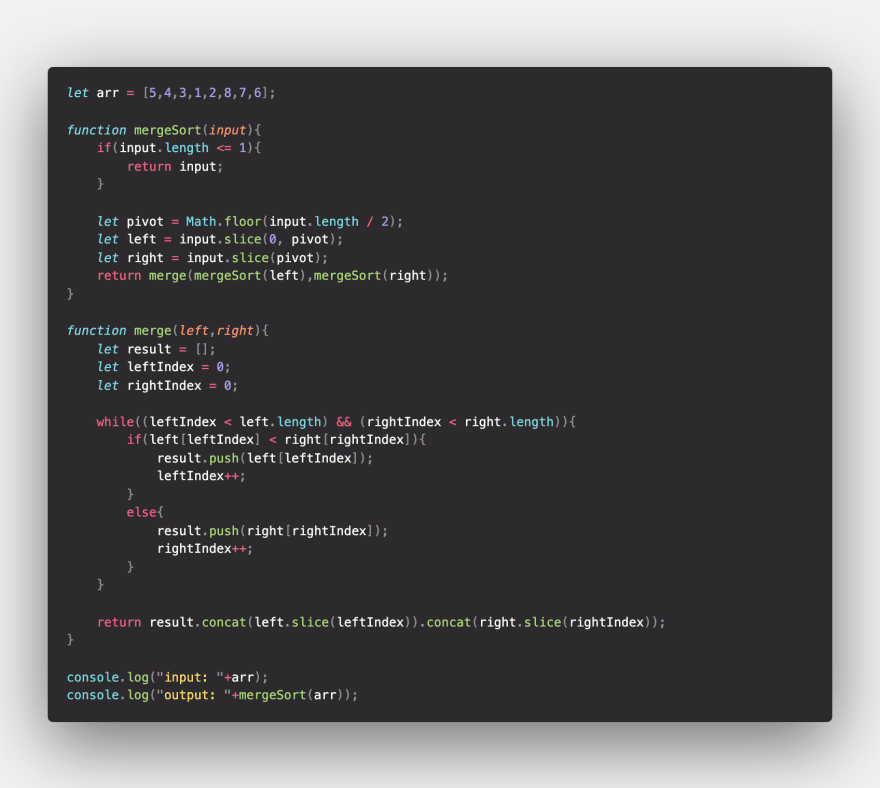 merge-sort-js-implementation