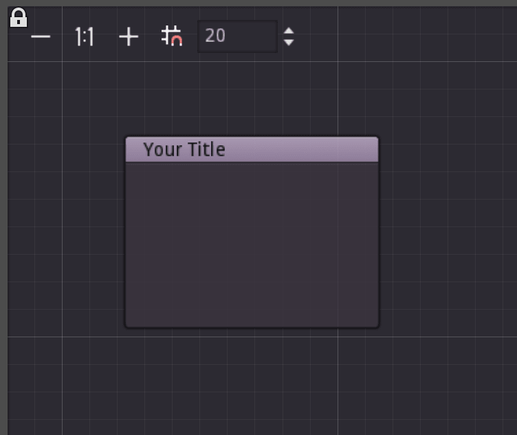 Displays the look of a Default Node in the GraphEdit control