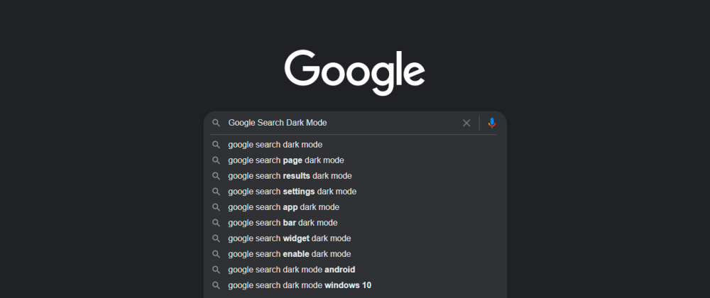 Cover image for 3 Steps to turn on your Google Search Dark Mode