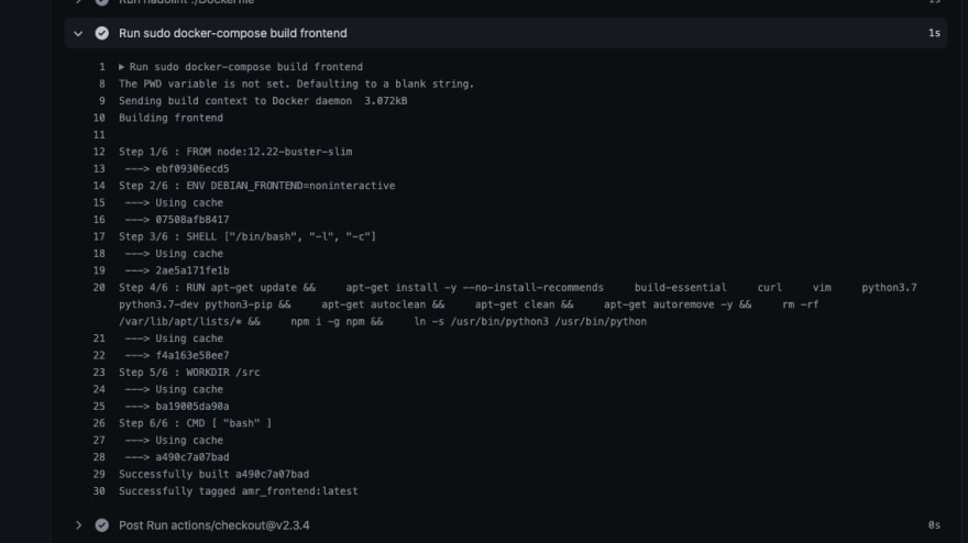 Enabled Docker Layer Caching on a GitHub Actions self-hosted runner