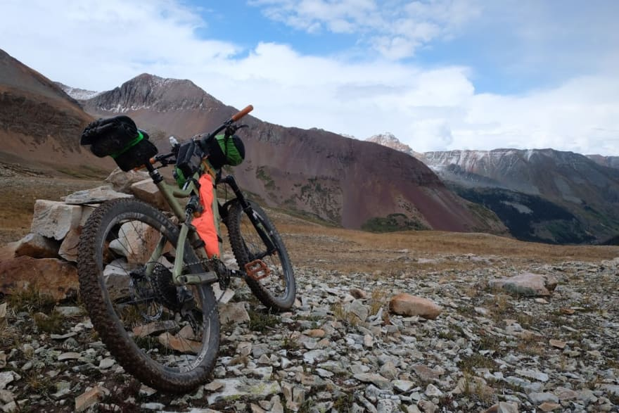 a bike in the mountains