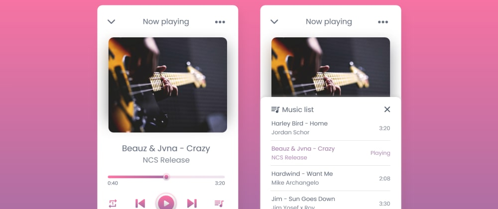 Cover image for Create Custom Music Player in JavaScript