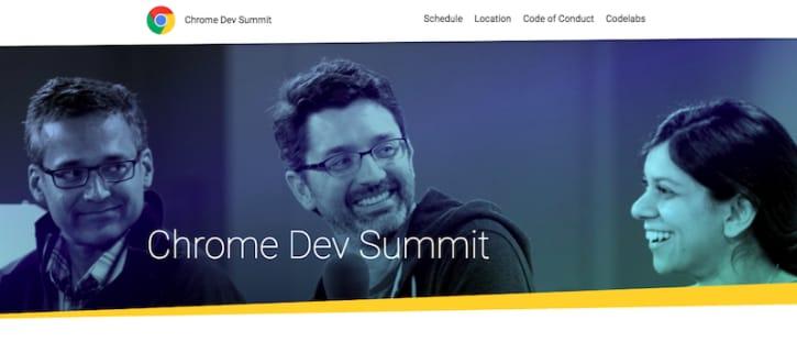 Chrome Dev Summit Header