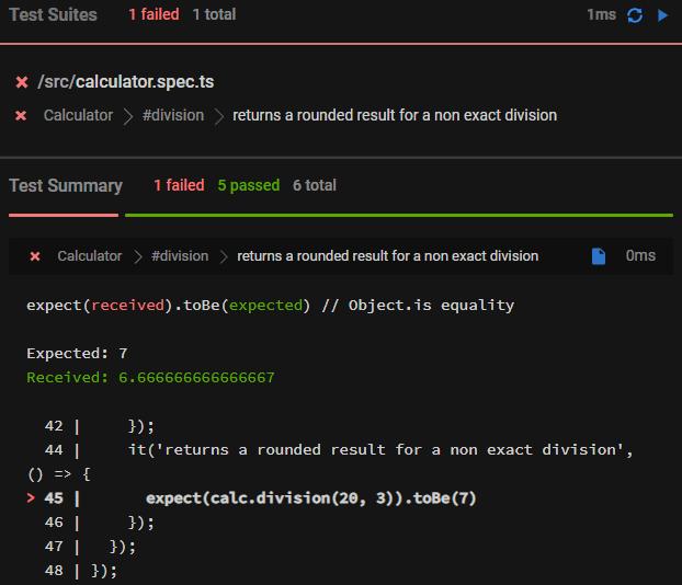 6th function failing