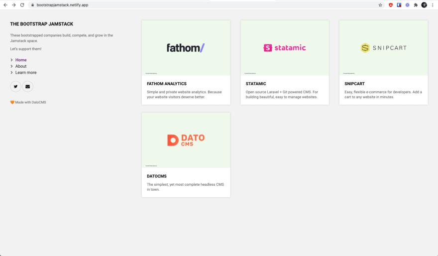 bootstrapjamstack - Website screenshot