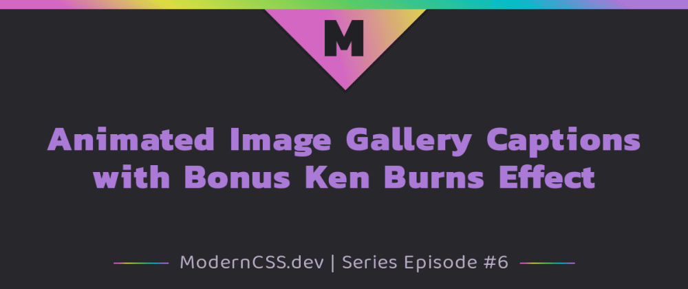 Cover image for Animated Image Gallery Captions with Bonus Ken Burns Effect