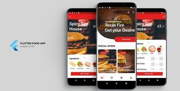 Flutter Food App UI<br> KIT