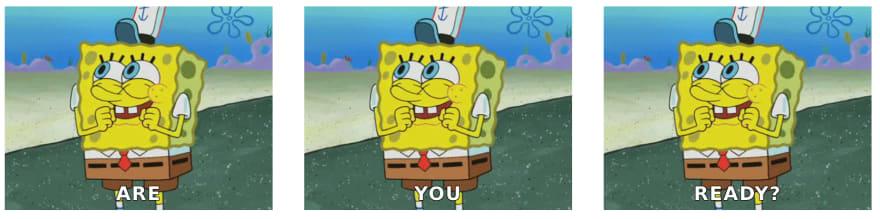 Spongebob gif's inside of a grid-plate tag