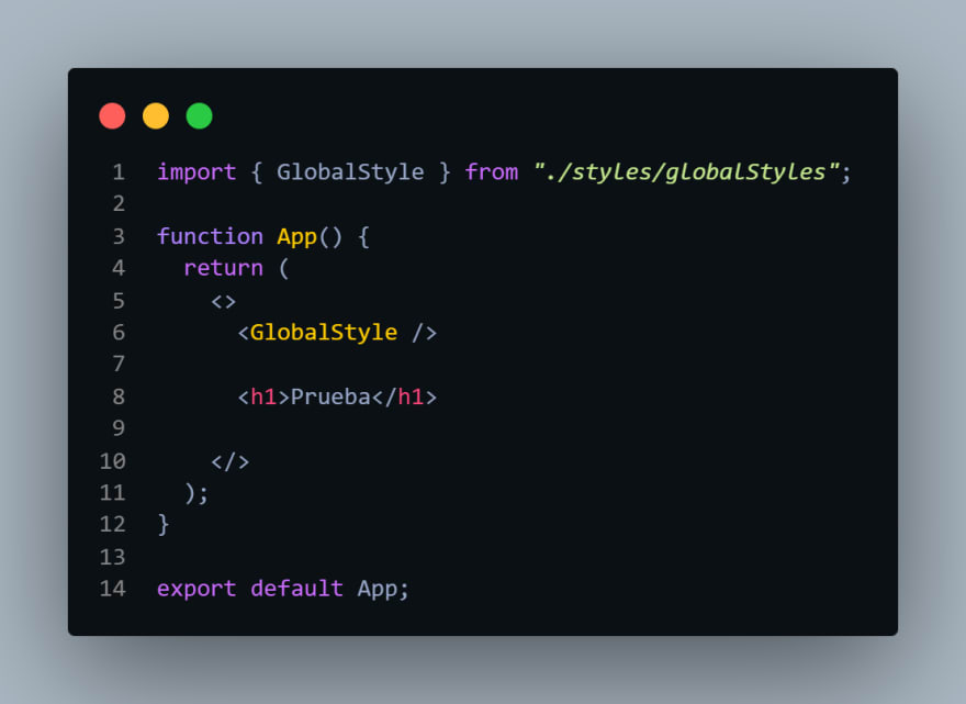 Global Style React Styled Components