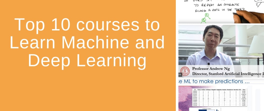 Cover image for Top 10 courses to learn Machine and Deep Learning (2020)