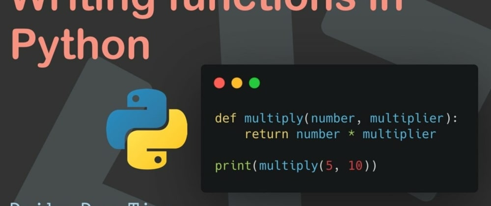 Cover image for FUNCTIONS IN PYTHON