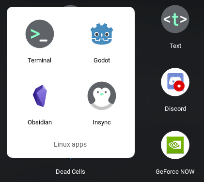 Resulting icon showing up in Linux Apps