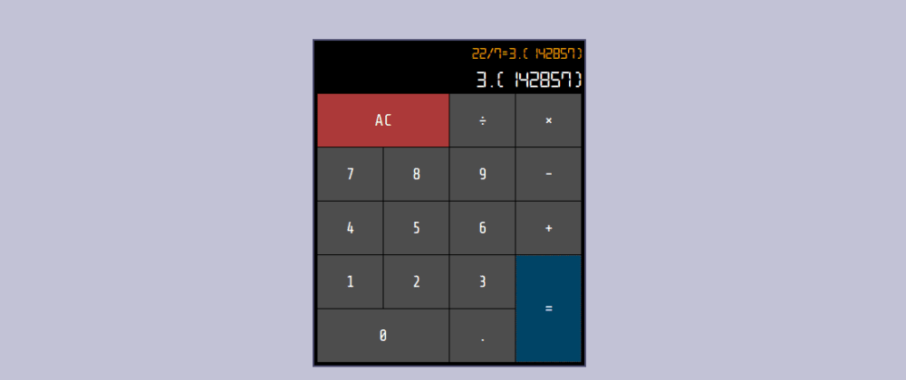 Cover image for freeCodeCamp's JavaScript Calculator project built in Elm