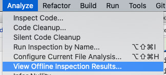 View Offline Inspection Results