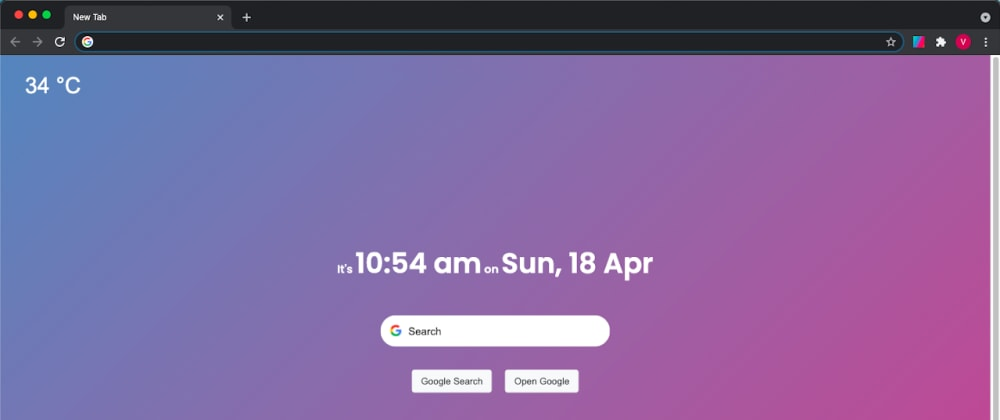 Cover image for I made a 'new tab' browser extension/theme