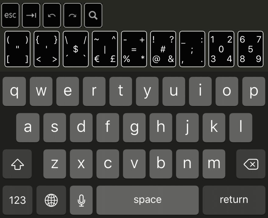 Buffer Editor Extended Keyboard
