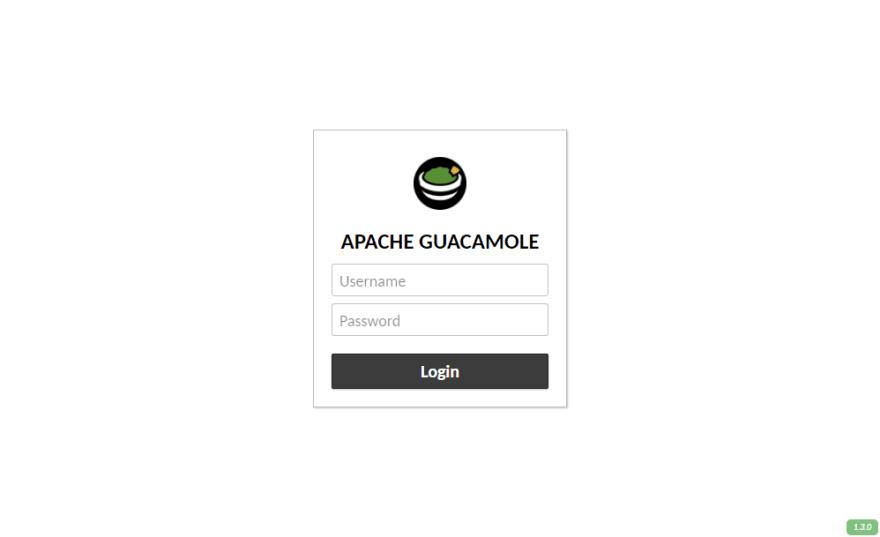 Guacamole Login