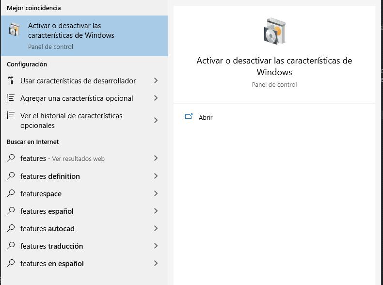 Activate or deactivate Windows features