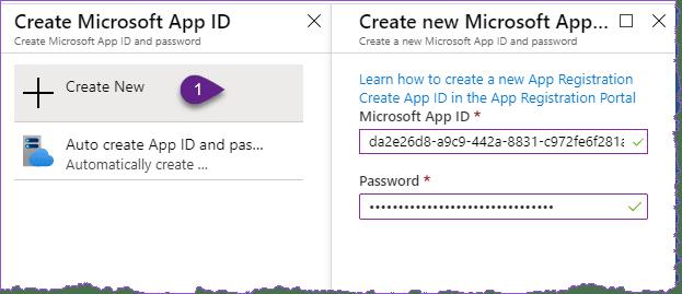 Microsoft App ID and Password