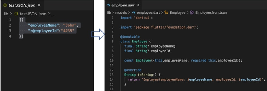 Generating Required Classes and Properties from JSON File Using JSON to Dart Model