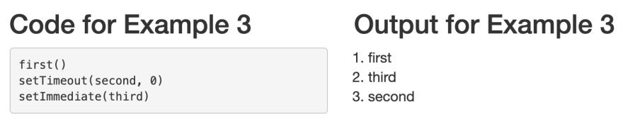 Example 3 — setImmediate vs. setTimeout