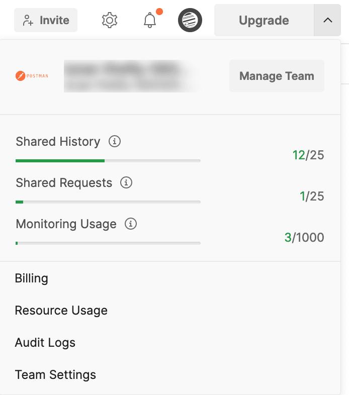 Monitoring usage