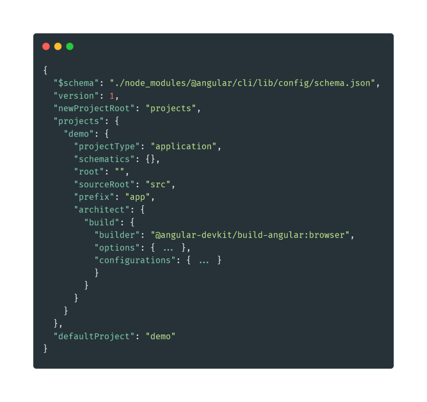 angular.json file