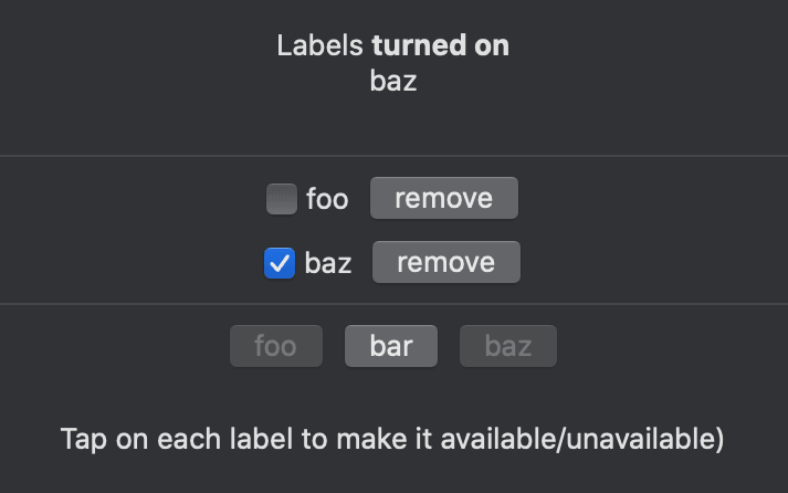 macOS version of the example