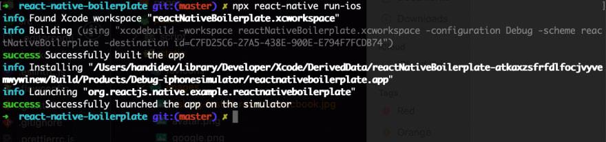build react native on macbook m1 success