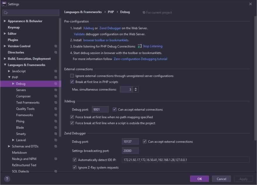 PHPStorm Xdebug make sure to change your port!