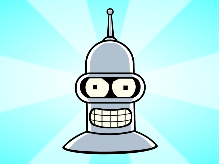 Cartoon depicting Bender from the TV show Futurama