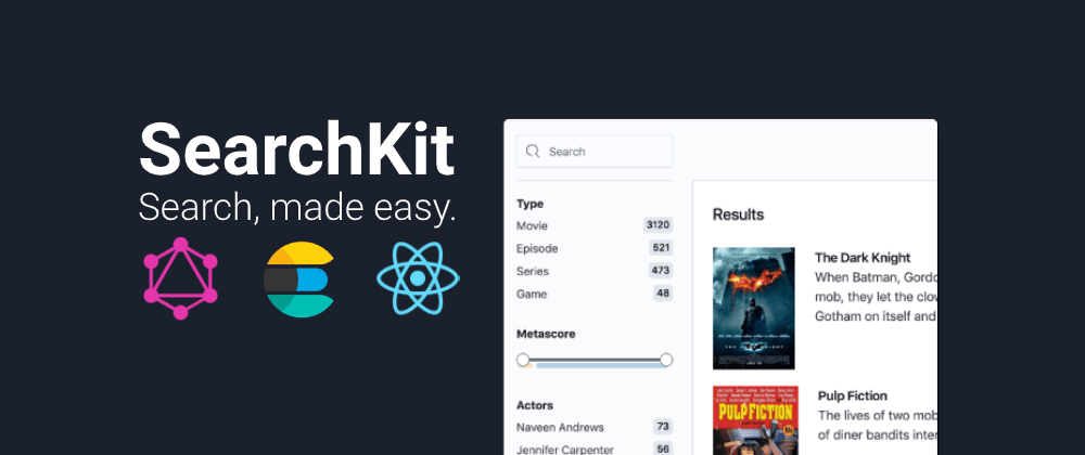 Cover image for Searchkit - Search UI with GraphQL, React and Elasticsearch