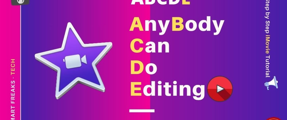 Cover image for How to Edit your videos for youtube using iMovie