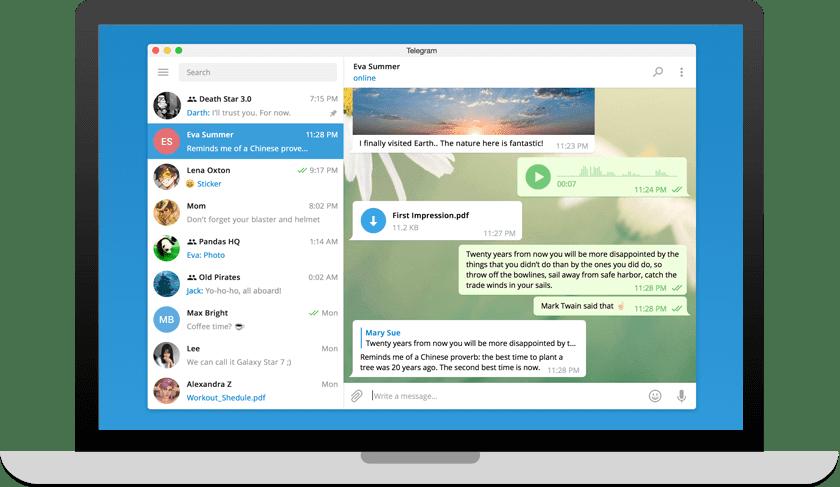 Telegram On Laptop