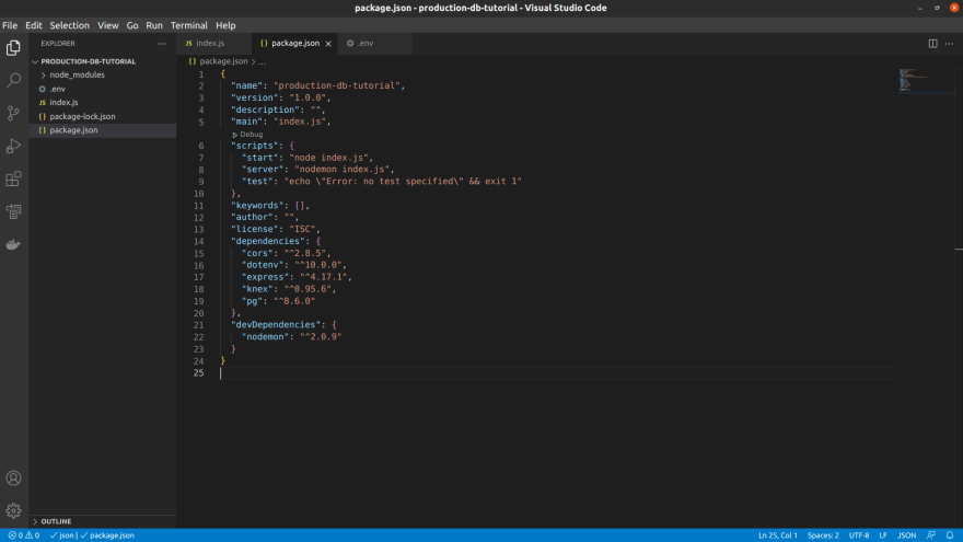 vscode after scripts