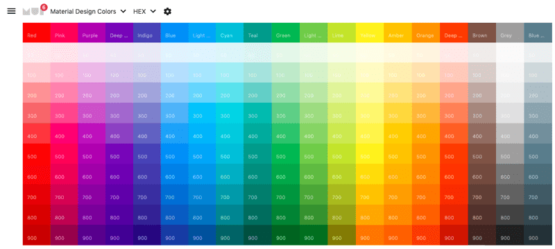 Material UI Colors Photo