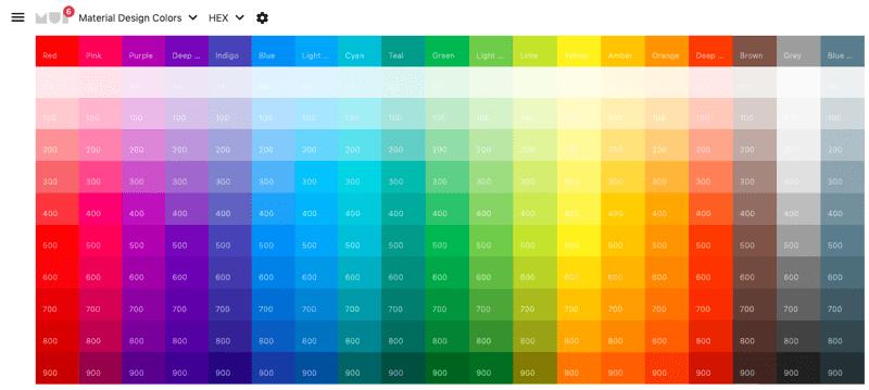 Material UI Colors Photo