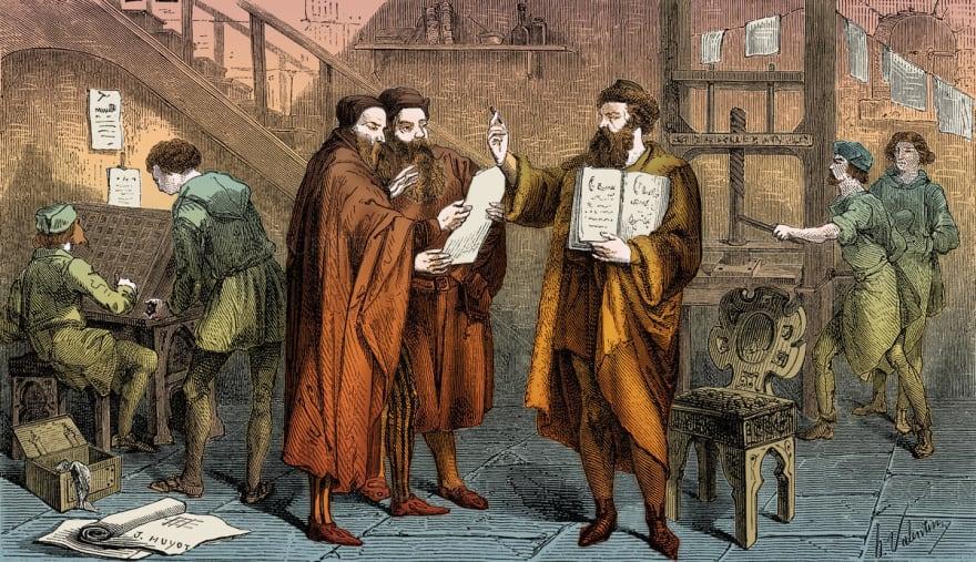 Johann Gutenberg, a painting by Granger