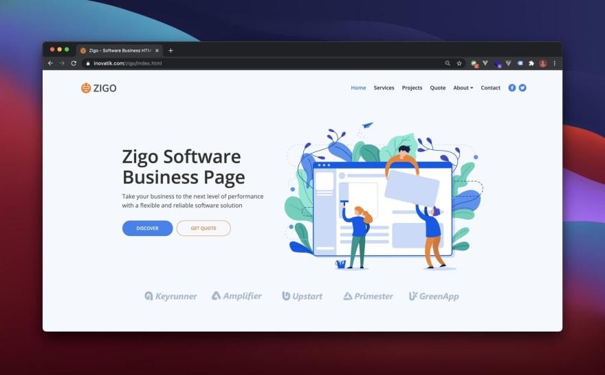 Zigo HTML Template