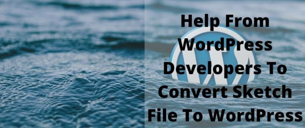 Cover image for Help From WordPress Developers To Convert Sketch File To WordPress