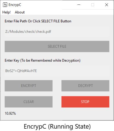 EncrypC Working