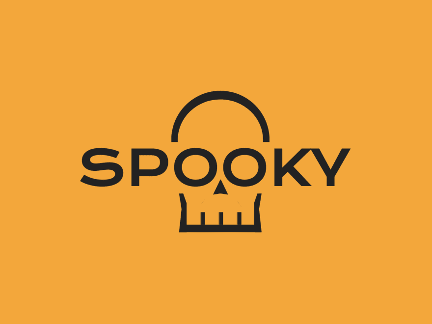 The word spooky with additional lines around the O's so they look like a skull