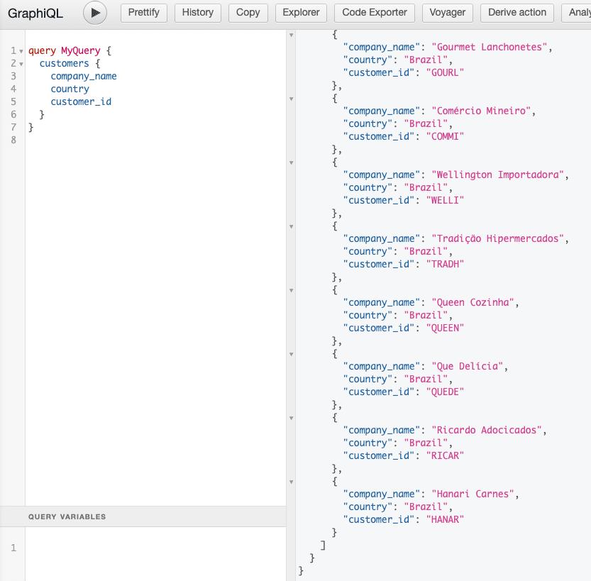 execute a query hasura graphql yugabytedb tips