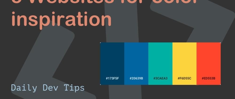 Cover Image for 5 Websites for color inspiration